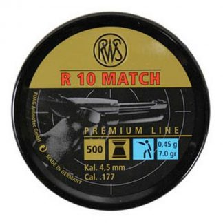 RWS R10 Match Pistol .177 Cal, 7.0 Grains, 4.50mm, Wadcutter, 500ct